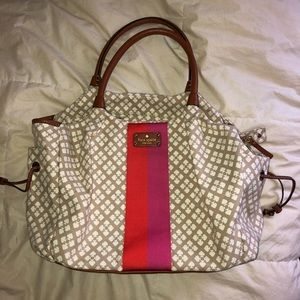 Last day to buy Kate Spade striped weekend bag EUC
